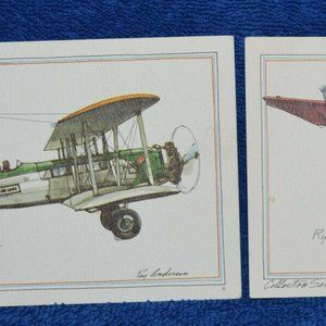 Set of 10 John Byrne Aircraft Post Cards 1973
